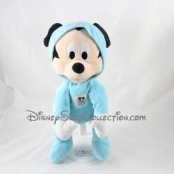 Peluche Mickey NICOTOY Disney grenouillére pyjama bleu 30 cm