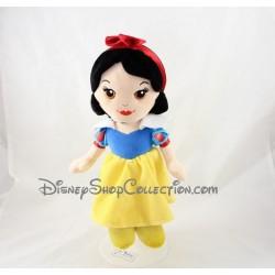 Poupée peluche princesse DISNEY NICOTOY Blanche Neige et les sept nains robe jaune 30 cm