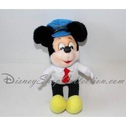 Peluche Mickey DISNEY vintage Wane Crazy casquette pilote Walt Disney 29 cm