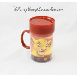 Mug de voyage Simba DISNEYLAND PARIS Le Roi Lion couvercle en plastique Disney 14 cm