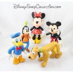 Lot de 5 figurines articulées Mickey et ses amis DISNEY Minnie Donald Dingo et Pluto