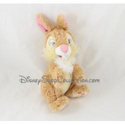 Peluche lapin Miss Bunny DISNEYLAND PARIS Bambi et ses amis beige Disney 22 cm