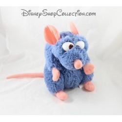 Peluche Rémy rat DISNEYLAND PARIS Ratatouille Disney bleu 25 cm