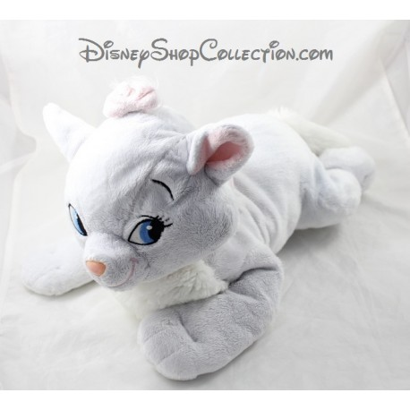 Peluche chat Marie DISNEY NICOTOY Les Aristochats blanc rose 37 cm
