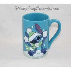 Mug en relief Stitch DISNEY STORE Lilo et Stitch Noel tasse bleue 3D en céramique