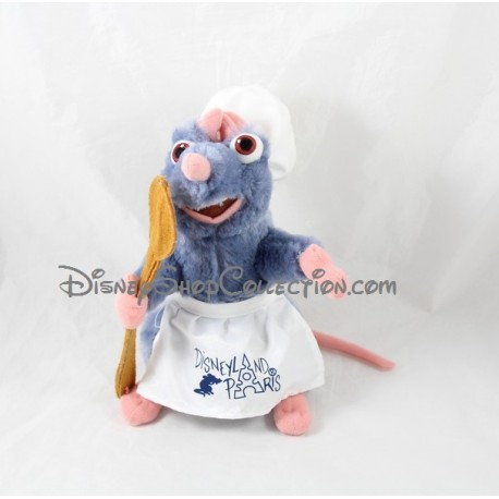 Peluche Rémy DISNEYLAND PARIS rat chef cuisinier Ratatouille 23 Cm
