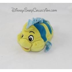Peluche poisson Polochon DISNEY La Petite Sirène jaune bleu 18 cm