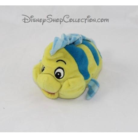 Fluffy Fish Polochon Disney The Little Mermaid Yellow Blue 18 Cm