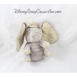 Peluche éléphant Dumbo DISNEY NICOTOY gris beige 18 cm