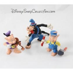 Figurines Les 3 petits cochon BULLYLAND Disney lot de 3 figurines cochon + loup pvc Bully