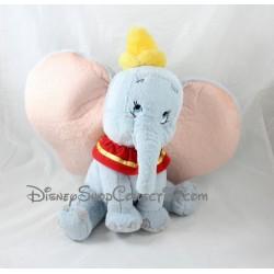 Peluche éléphant Dumbo DISNEYLAND PARIS col rouge chapeau jaune Disney 32 cm