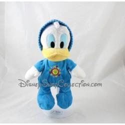 Peluche Donald DISNEY NICOTOY pyjama bleu soleil 28 cm