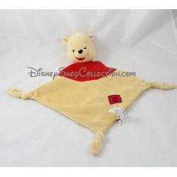 Doudou plat Winnie l'ourson SIMBA DICKIE Disney losange jaune rouge 39 cm