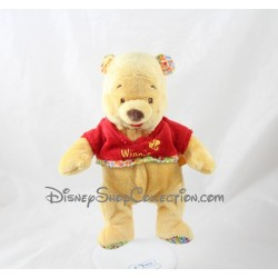 Peluche Winnie l'ourson DISNEY BABY t-shirt rouge abeille 23 cm