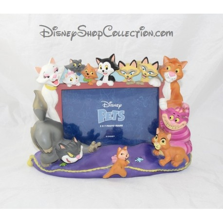 DISNEY STORE cat resin photo frame different Disney cats