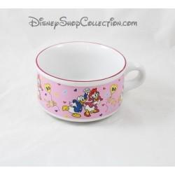 Bol Donald et Daisy DISNEY grande tasse rose céramique 13 cm