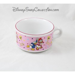 Donald y Daisy DISNEY taza tazón rosa cerámica 13 cm