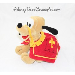 Peluche chien Pluto DISNEYLAND PARIS mousquetaire chevalier 21 cm