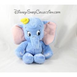 Peluche Dumbo NICOTOY Disney bébé bleu chapeau jaune 30 cm