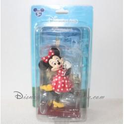 Figurine Minnie DISNEYLAND PARIS sur présentoir et carte dédicacée 15 cm