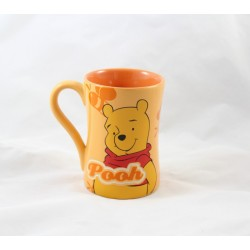Mug Winnie l'ourson DISNEY STORE tasse orange Pooh en céramique relief