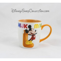 Mug Mickey DISNEYLAND PARIS lettre L tasse céramique orange