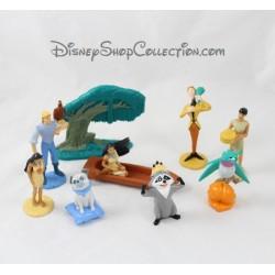 Lot of 9 figurines Pocahontas PANINI Disney