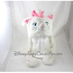 Bonnet Marie chat DISNEYLAND PARIS Les Aristochats oreilles articulées blanc rose Disney