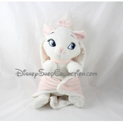 Peluche chat Marie PTS SRL Disney Les Aristochats couverture rose 32 cm
