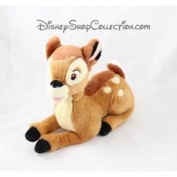 Peluche Bambi DISNEY couché biche marron 28 cm