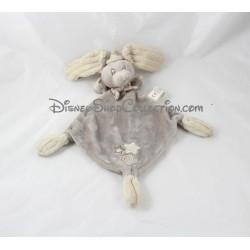 Doudou plat éléphant DISNEY NICOTOY Dumbo gris 30 cm