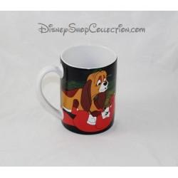 Taza de zorro y el sabueso DISNEYLAND París mejores amigos taza ceramica Disney 11 cm