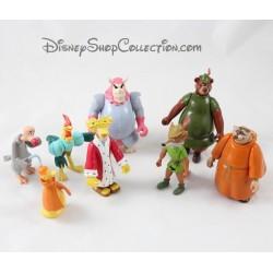 Menge von 8 bewegliche Figuren Robin Hood DISNEY pvc 10 cm