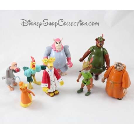 Lot Of 8 Articulated Figures Robin Hood Disney Pvc 10 Cm Say