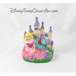 Tirelire princesse Aurore DISNEY La Belle au bois dormant château plastique PVC 17 cm