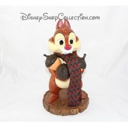Figurine articulée écureuil DISNEY STORE Tic et Tac résine gland 30 cm