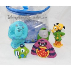 DISNEY monsters & co. 5 pvc figurines lot bath toy