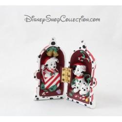 Figurine résine Les 101 dalmatiens DISNEYLAND PARIS Noël borne à incendie Disney