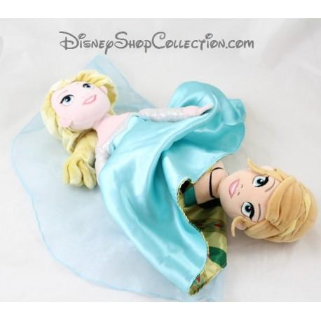 Poupée peluche réversible Anna Elsa DISNEYPARKS La Reine des neiges Disney 37 cm