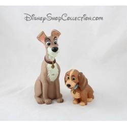 Figurine pouet Clochard et Lady FRISKIES La belle et le clochard jouet pour chien