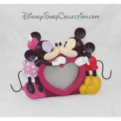 Cadre photo résine DISNEY Mickey et Minnie coeur bisous 17 cm