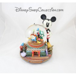 Snow globe musical automate lumineux DISNEY 100 Years of Magic Mickey et ses amis 22 cm