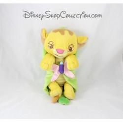 Peluche Simba DISNEYPARKS Le Roi Lion couverture feuille Disney Babies 27 cm