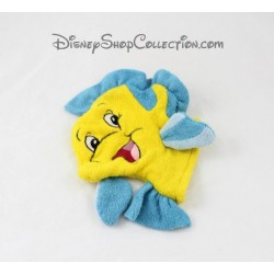 Washcloth puppet fish flounder DISNEY STORE Little Mermaid blue yellow 18 cm