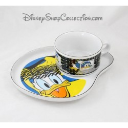 Set plate and bowl STUDIO MOONFLOWER Disney Donald ceramic duck