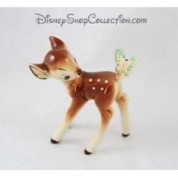 Figurine céramique biche DISNEY Bambi papillon 14 cm