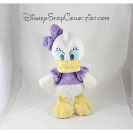 Peluche Daisy DISNEY NICOTOY noeud violet sur la tête 37 cm