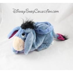 Handbag stuffed donkey Eeyore DISNEY STORE blue mauve 30 cm