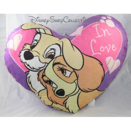 Cushion heart shaped DISNEY Lady and the tramp 35 cm