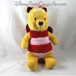 Peluche Winnie NICOTOY Disney déguisé en papillon coeur 30 cm